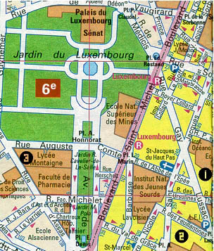 Plan du Quartier Latin